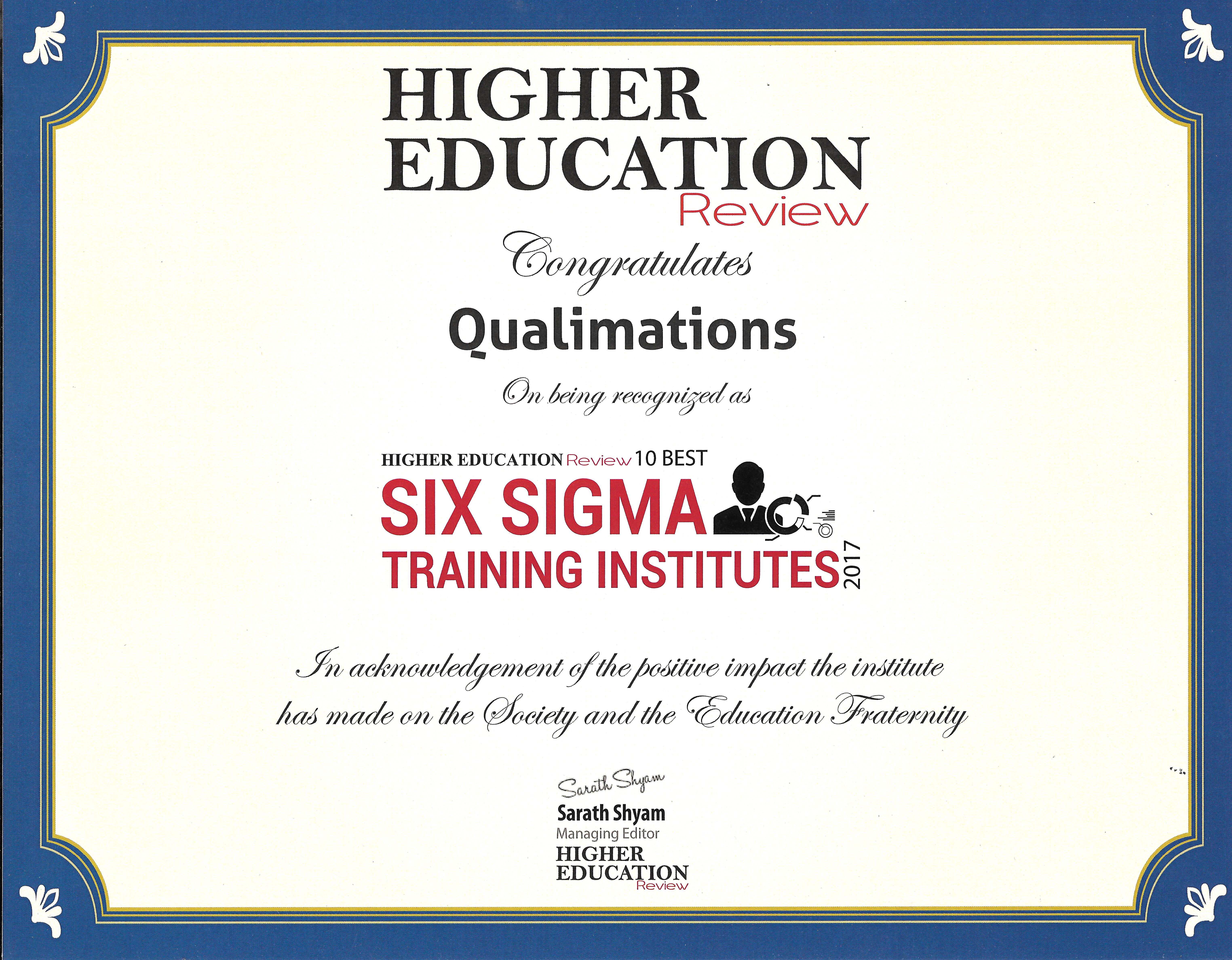 Qualimations Six Sigma Green Belt Registration Six Sigma Jobs